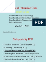 Surgical Intensive Care