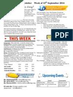 newsletter week of 150914