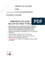 Mean Holdig & Channel Failure