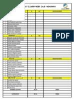 Check List Accesorios de Izaje