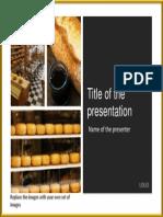 7 Orange Gold Images PowerPoint Title Set