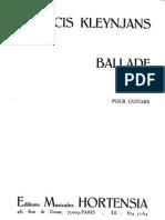 F.kleynjans - Ballade No 3