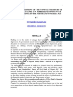 A Critical Assessment of the Survival Strategies of Deposit Money Banks in a Depressed Economy With Special Reference to the First Bank of Nigeria Plc