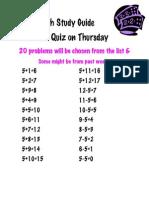 Math Study Guide 5