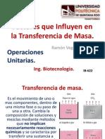 Factores Que Influyen en La Transferencia de Masa