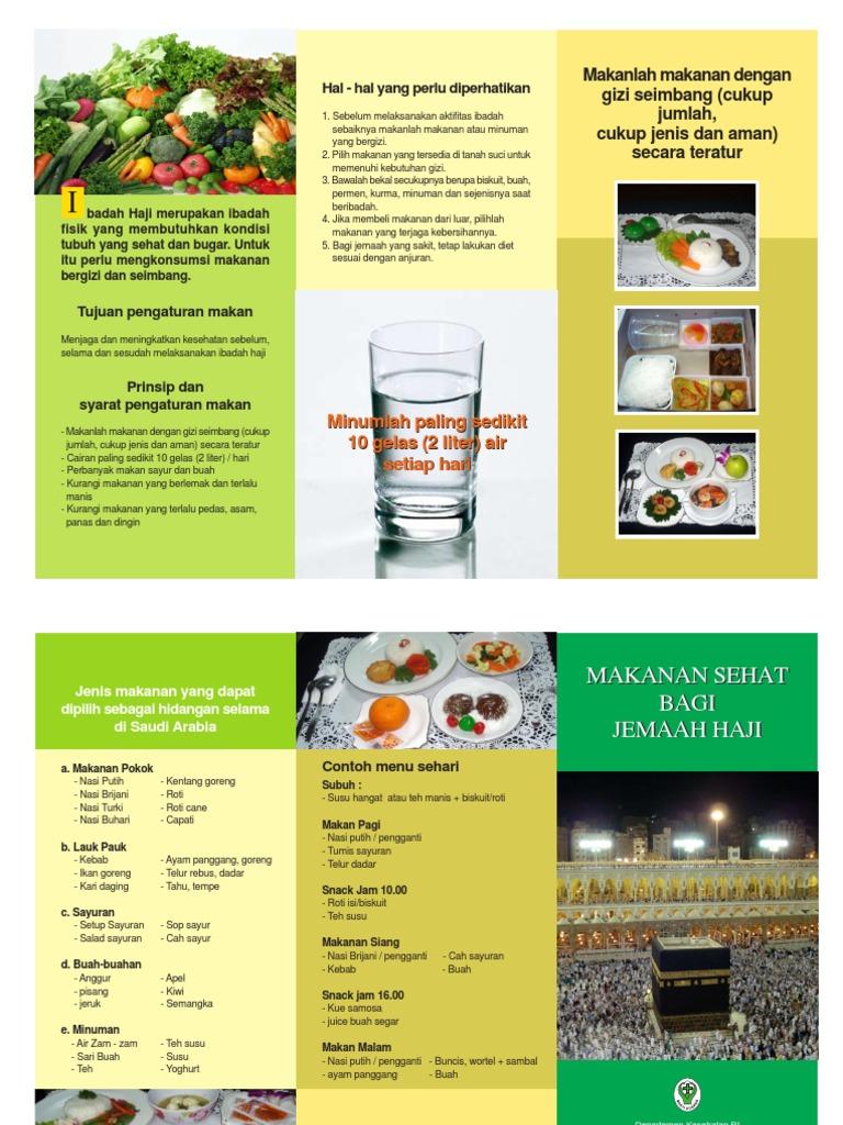 Brosur Tips Dan Makanan Sehat Haji Fh11 Pdf