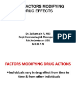 Biomedis1)Factors Modifying Drug Effects (1)