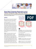Direct Resin Composite Restorations Versus Indirect Composite Inlays_One_Year Results