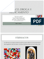 Farmaco, Droga y Medicamento