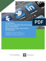 Risk Register Social Media