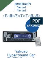 Manual Yakumo Hyper Sound Car MUTLILANGUAGES