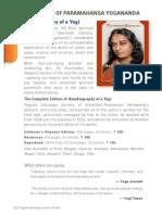The Life of Paramahamsa Yoganamda