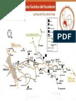Mapa Ruta Del Sol y de La Frutas Del Occidente Antioqueño Colombia
