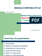 Style in Module Writing