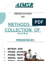 Collection of Data POOJA M