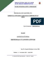 Sistemas Cuantitativos MGCFC-IsPAD 2013-2014