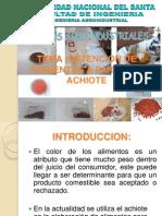 Obtencion de Pigmentos a Partir de Achiote