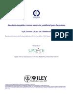 Anestesia Raquídea Versus Anestesia Peridural Para Cesarea