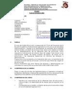 Silabu Del Curso de Analisis Estructural I-2014-II Unheval Eapic