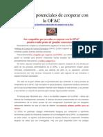 Beneficios Potenciales de Cooperar Con La OFAC
