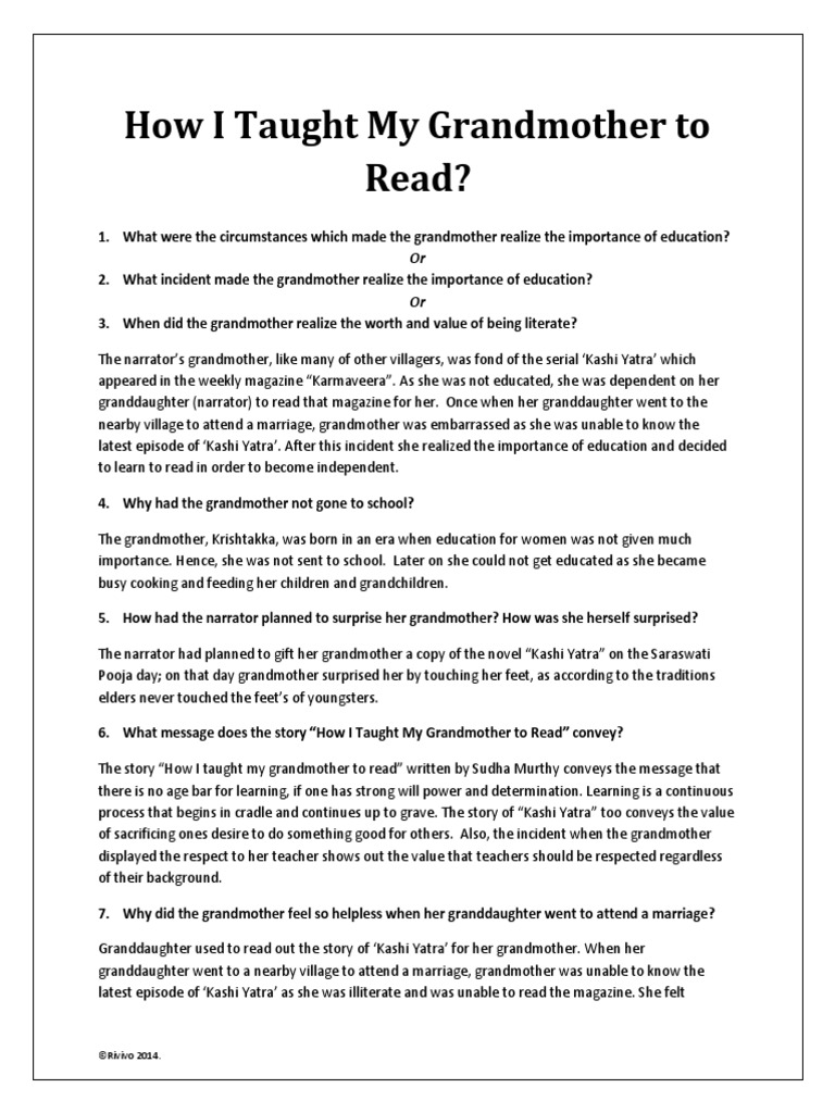 essay on my grandmother my grandmother essay for kids personal  how i taught my grandmother to narration novels