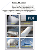 How is LPG Stored