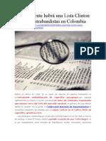 Posiblemente Habrá Una Lista Clinton Para Contrabandistas en Colombia