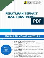 Peraturan Terkait Jasa Konstruksi