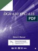 Yamaha YPG635 Manual