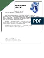 Certificat de Botez Marinaresc -Felicia