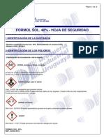 Formol Sol. 40% - Msds