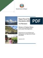 Nepal Rural Roads Standards 2012-FINAL