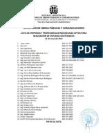 Lista de Estudios de Suelos