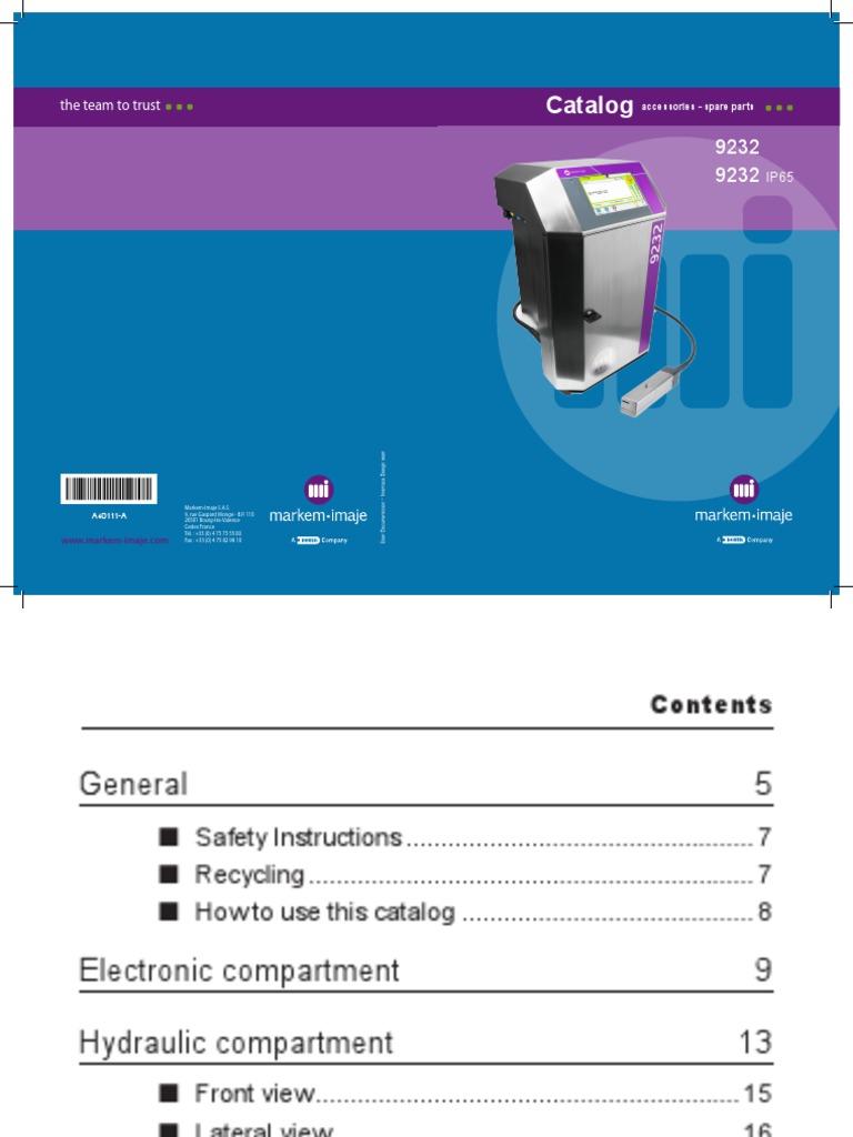 9232 catálogo de partes impresora markem-imaje | Electronic Waste |  Recycling