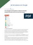 Creación de Formularios Con Google Drive