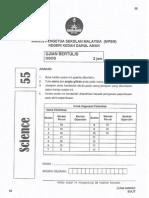 Soalan Percubaan PT3 Kedah Sains 2014