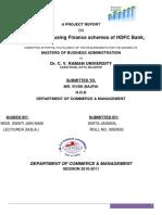 Housing Finance Schemes of HDFC Bank