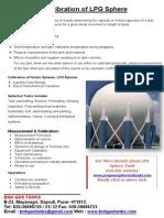 Calibration of LPG Sphere