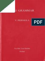 Pali Grammar