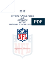 2012 - Rule Book - NFL