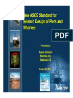 New Asce Seismic Design Standards for Piers and Wharves