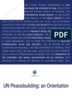 Peacebuilding Orientation  UN