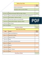 IIT Study Time Table