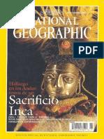 REINHARD, Johan Hallazgo en Los Andes Restos de Un Sacrificio Inca, Rev. National Geographics, 1999