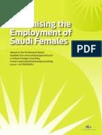 Maximising Saudi Female Employment White Paper