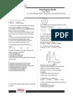 Std IX - 2013 Dr Homi Bhabha BalVaidyanik Competition Test Paper