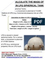 How to Calculate the Mass of LPG in LPG Spherical Tank