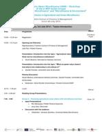 UMM Worksho Frankfurt Agenda