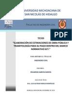 ELABORACIONDEESTIMACIONESDEOBRAPUBLICAYTRAMITOLOGIAPARASUPAGODENTRODELMARCONORMATIVOSCT