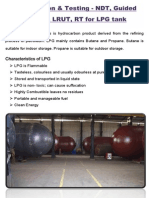 Inspection & Testing - NDT, Guided Wave, UT, RT for LPG Tank